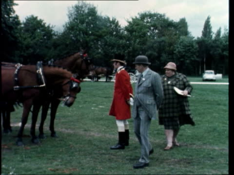prince philip competes at horse show; england: windsor prince phillip along driving horse carrage prince philip interview sot - interview raw footage stock videos & royalty-free footage