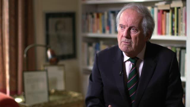 prince philip, duke of edinburgh dies aged 99: itv news main obituary; england: london: int gyles brandreth interview sot. - re 1969 bbc tv... - bbc点の映像素材/bロール