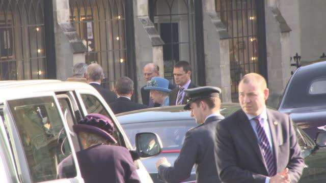 Prince Philip Duke of Edinburgh Elizabeth II at Celebrity Sightings in London at on March 14 2016 in London England