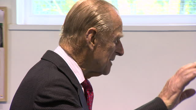 prince philip, duke of edinburgh, makes joke about the plaques, as he unveils one at bromley and downham youth club - youth club stock videos & royalty-free footage