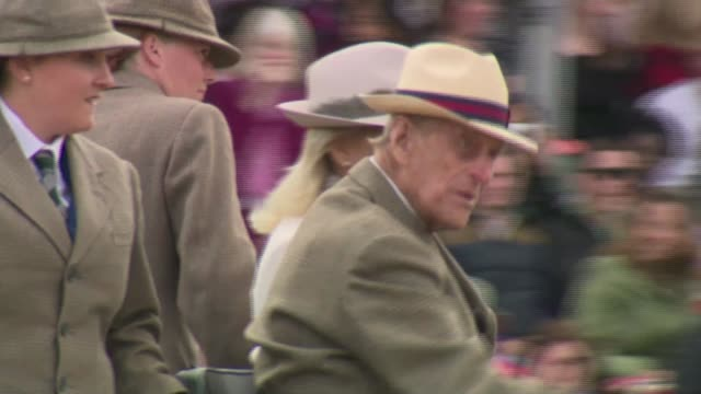 prince philip interview on 60th anniversary of the duke of edinburgh awards r15051602 / 1552016 windsor various shots of prince philip driving... - prince philip stock videos & royalty-free footage