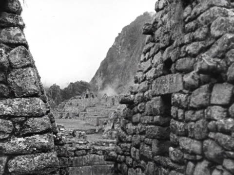 prince philip is taken on a tour of the ruins at machu picchu 1962 - machu picchu stock videos and b-roll footage