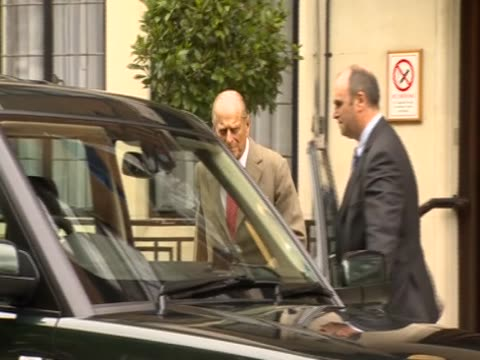 Prince Philip leaving hospital after being treated for a bladder infection