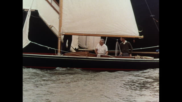 prince philip observed on royal yacht in cowes / united kingdom - isle of wight stock videos & royalty-free footage
