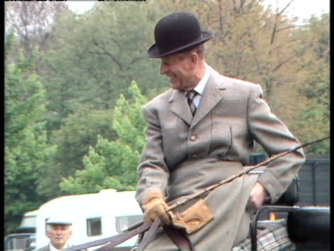 prince philip prepares to compete in the windsor horse trials - carriage stock videos and b-roll footage