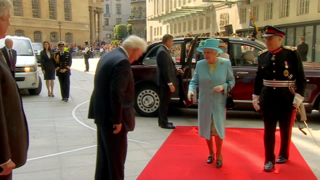 stockvideo's en b-roll-footage met prince philip 'progressing satisfactorily' following exploratory surgery england london bbc broadcasting house photography** queen elizabeth from... - koninklijk persoon