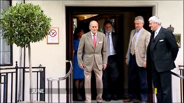 prince philip 'responding well' to treatment for bladder infection 962012 / t09061213 london prince philip leaving king edward vii hospital - bladder stock videos & royalty-free footage