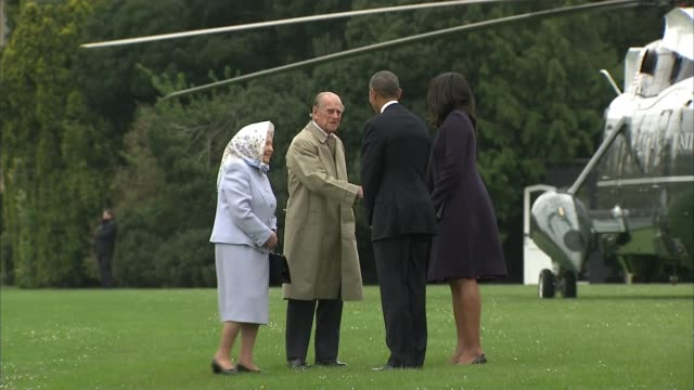prince philip to step down from public engagements prince philip to step down from public engagements lib / t22041609 windsor castle ext barack obama... - lawn stock videos & royalty-free footage