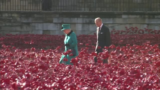 prince philip to step down from public engagements prince philip to step down from public engagements / r16101418 ext queen elizabeth and prince... - tower of london stock videos & royalty-free footage