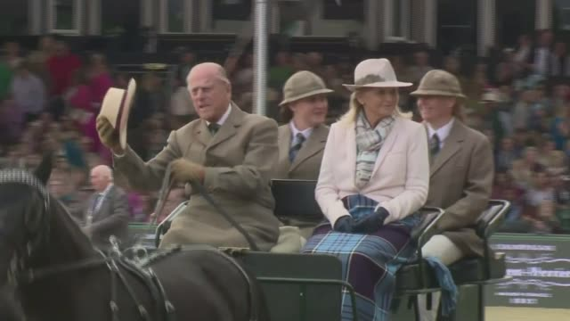 prince philip to step down from public engagements prince philip to step down from public engagements tx ext prince philip driving a carriage at the... - carriage stock videos and b-roll footage