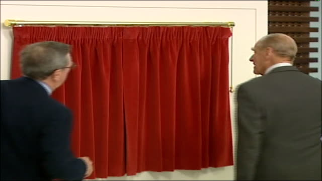prince philip visits emirates stadium for official opening **beware prince philip along to unveil plaque as officially opens the emirates stadium ends - plaques stock videos & royalty-free footage