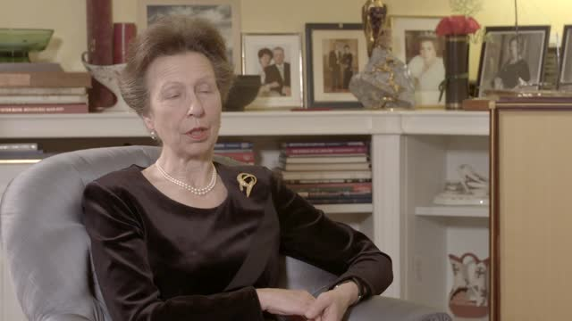 prince philip,duke of edinburgh dies aged 99:interview withprincess anne, princess royal; england: intprincess anne, princess royal interview sot... - itv news at one stock videos & royalty-free footage