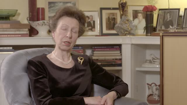 prince philip,duke of edinburgh dies aged 99:interview withprincess anne, princess royal; england: int reporter: spoke about doe, another area of... - deer stock videos & royalty-free footage