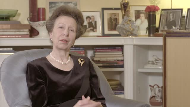 prince philip,duke of edinburgh dies aged 99:interview withprincess anne, princess royal; england: int reporter: doe awards have had an impact on... - journalism stock videos & royalty-free footage