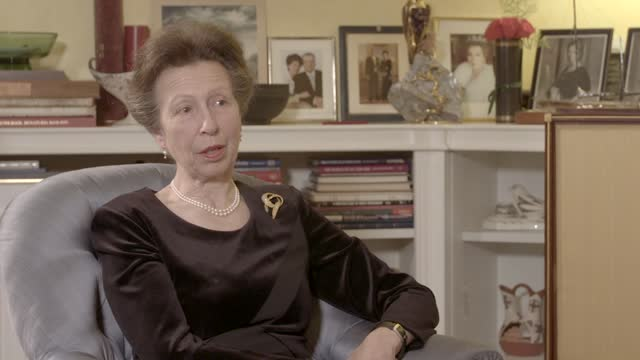 prince philip,duke of edinburgh dies aged 99:interview withprincess anne, princess royal; england: intreporter: finally, a life that started on a... - image stock videos & royalty-free footage