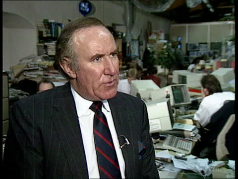 prince & princess of wales have separated; london: cms andrew neil intvwd sof - diana had a strategy to get out of the marriage or bring royals... - andrew neil bildbanksvideor och videomaterial från bakom kulisserna