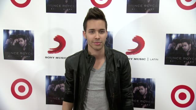 """prince royce at prince royce and target celebrate the release of the exclusive deluxe edition of """"soy el mismo"""" at target east harlem on october 08,... - exklusiv stock-videos und b-roll-filmmaterial"""
