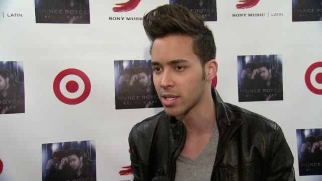 vídeos de stock, filmes e b-roll de interview prince royce talks about the concept of his album sol el mismo and life changes at prince royce and target celebrate the release of the... - título de álbum