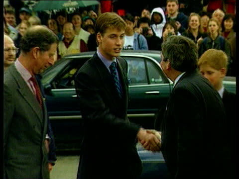 16th birthday been lib canada vancouver prince william being greeted on arrival at venue as prince of wales and prince harry beside cmss girls... - canada stock videos & royalty-free footage