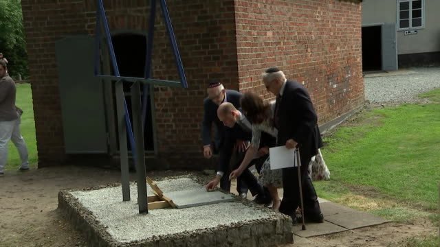 Prince William and Catherine Duchess of Cambridge meeting holocaust survivors on an official visit to the Stutthof concentration camp in Gdansk Poland