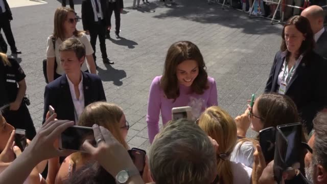 prince william and his wife kate visit hamburg's concert hall on the final day of their tour of poland and germany - popular music tour stock videos and b-roll footage