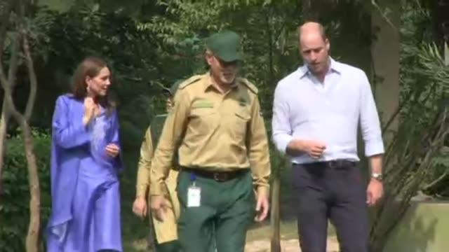 prince william and his wife kate visit margalla hills in islamabad as they start their tour of pakistan during which they are expected to learn about... - pakistan stock videos & royalty-free footage