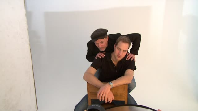 RH Prince William and Jeff Hubbard being photographed together by Rankin London United Kingdom