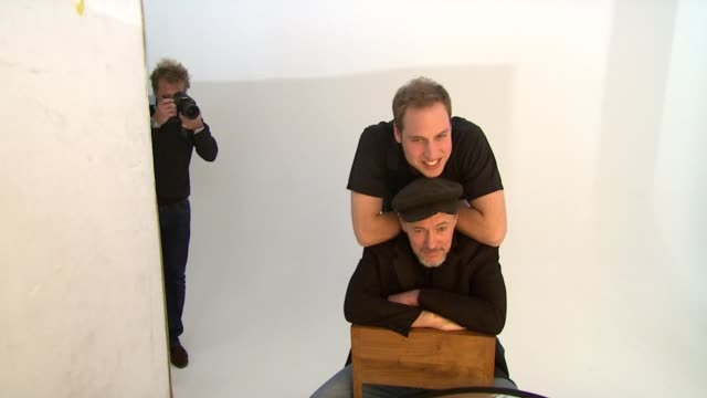 HRH Prince William and Jeff Hubbard being photographed together by Rankin London United Kingdom