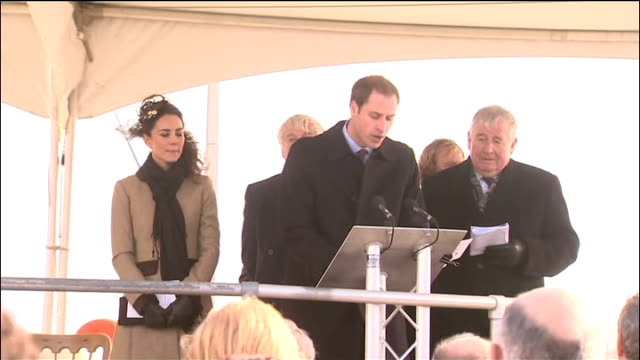 Prince William and Kate Middleton carry out first formal engagement Prince William speech SOT My family are very proud of our long association with...