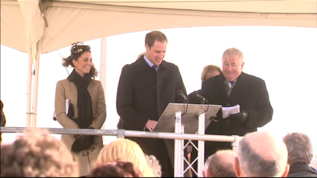 Prince William and Kate Middleton carry out first formal engagement in Anglesey Prince William speech SOT Talks of the earthquake in Christchurch New...