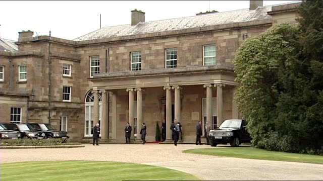 prince william and kate middleton visit belfast hillsborough castle int prince william kate middleton owen and rose paterson into castle prince... - owen paterson stock videos and b-roll footage