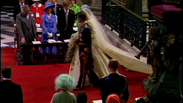 Prince William and Kate Middleton wedding Best Man and Maid of Honour chosen LIB Prince Charles and Princess Diana walking down aisle of St Paul's...