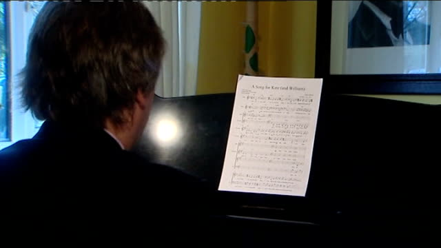 Prince William and Kate Middleton wedding Bucklebury residents receive invitations Daniel Nicholls set up playing 'A Song for Kate ' at piano and...