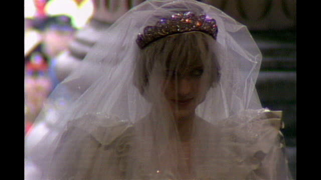 Prince William and Kate Middleton wedding ceremony to be released digitally through Decca Records LIB EXT High angle view of Princess Diana arriving...