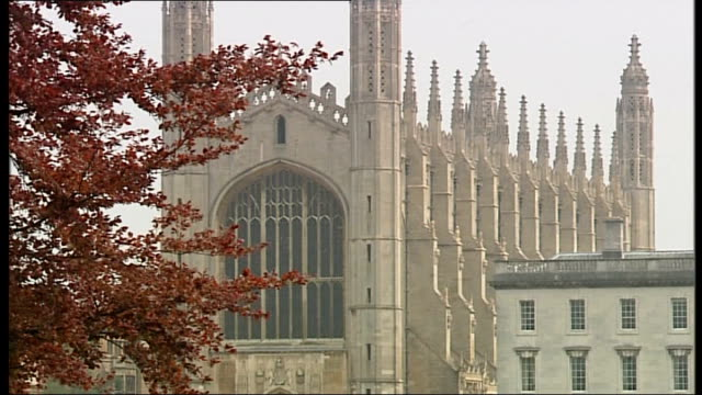 prince william and kate middleton wedding day: couple given new titles; england: cambridgeshire: cambridge: ext general views king's college various... - king's college cambridge stock videos & royalty-free footage