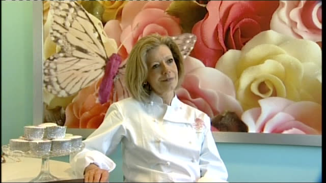 prince william and kate middleton wedding: fiona cairns and mcvitie's to make wedding cakes; fiona cairns interview sot - on being asked to make the... - britisches königshaus stock-videos und b-roll-filmmaterial