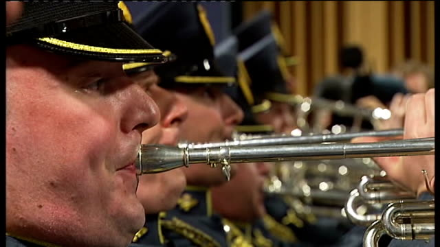 prince william and kate middleton wedding raf trumpeters practice fanfare england london raf northolt ext central band of the royal air force... - rehearsal stock videos and b-roll footage