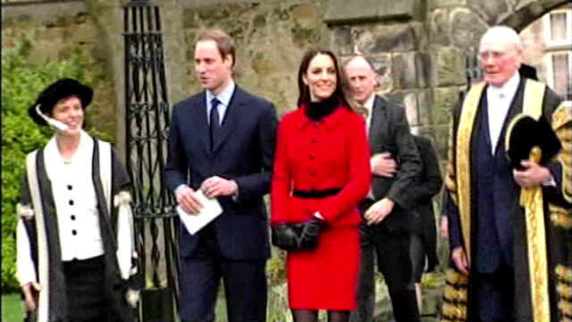 Prince William and Kate Middleton wedding speculation Sarah Burton will design wedding dress LIB Fife St Andrews EXT Prince William and Kate...