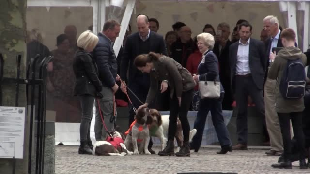 prince william and kate the duchess of cambridge meet locals in keswick cumbria - prince stock videos and b-roll footage