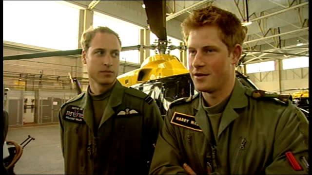 prince william and prince harry interview at raf shawbury england shropshire raf shawbury int prince william and prince harry interview setups sot /... - prince william stock videos & royalty-free footage