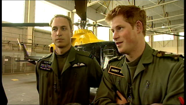prince william and prince harry interview at raf shawbury prince william and prince harry interview sot [harry] i'm a lynx lover i love the apache /... - gossip stock videos & royalty-free footage