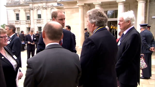 prince william and prince harry open tedworth house recovery centre; england: wiltshire: tidworth: help for heroes recovery centre: ext prince... - tidworth stock videos & royalty-free footage