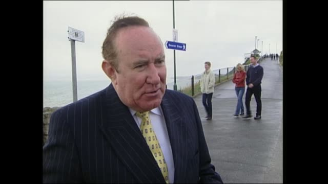 ardent productions row:; itn scotland: st andrews: andrew neil towards from car andrew neil interviewed sot - we always knew somebody would break the... - andrew neil stock videos & royalty-free footage