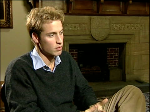 prince william as student at university of st andrews talks about his independence scotland; nov 04 - st. andrews scotland stock videos & royalty-free footage