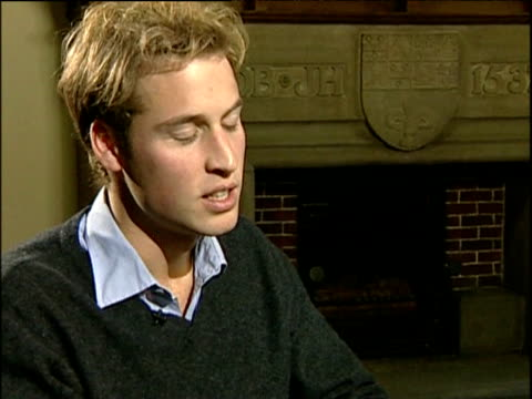 prince william as student at university of st andrews talks about his intention of full involvement in army life scotland; nov 04 - st. andrews scotland stock videos & royalty-free footage