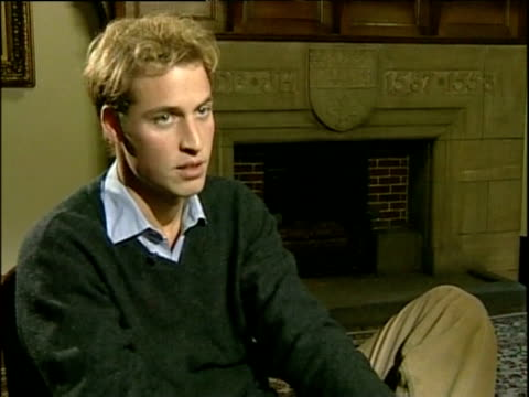 prince william as student at university of st andrews talks about importance of keeping his feet on ground scotland; nov 04 - st. andrews scotland stock videos & royalty-free footage