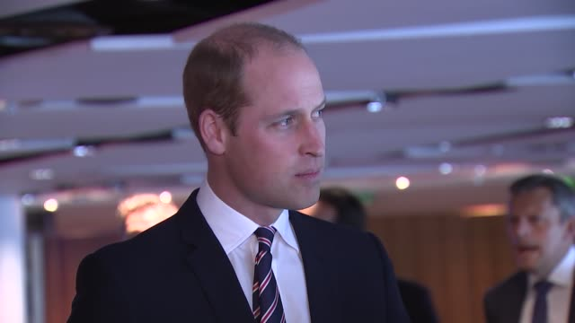 prince william attends 10th anniversary president's lunch reception at wembley **beware greg dyke chairman of the football association and prince... - greg dyke stock videos & royalty-free footage