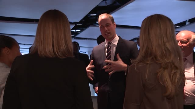 prince william attends 10th anniversary president's lunch reception at wembley william chatting with women football players including rachel... - greg dyke stock videos & royalty-free footage