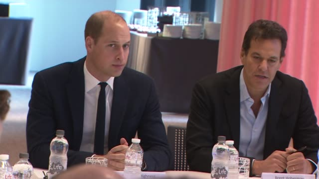 Prince William attends final meeting of Cyberbullying Taskforce ENGLAND London Google Headquarters INT Prince William Duke of Cambridge sitting at...