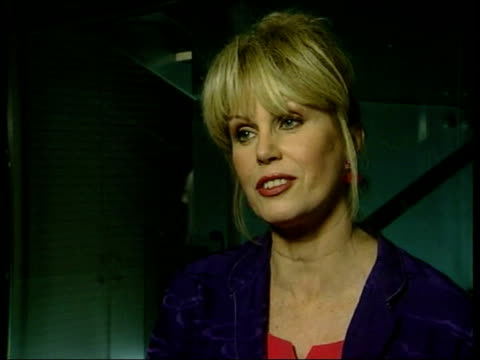 prince william attends press complaints commission party bbc pool joanna lumley interviewed sot both extremely relaxed nothing formal about it gv... - joanna lumley stock videos & royalty-free footage